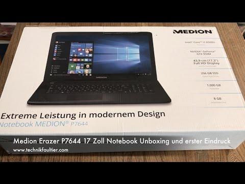 Medion Erazer P7644 17 Zoll Notebook Unboxing und erster Eindruck