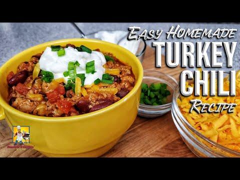 Homemade Turkey Chili | Crockpot Recipe