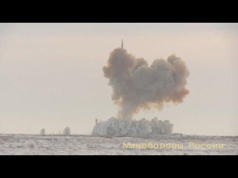 Пуск ракеты комплекса «Авангард»