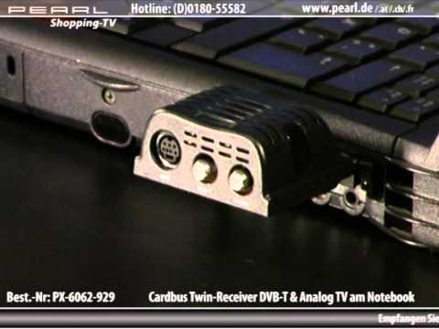 TYPHOON CardBus Twin-Receiver für DVB-T & Kabel-TV am Notebook