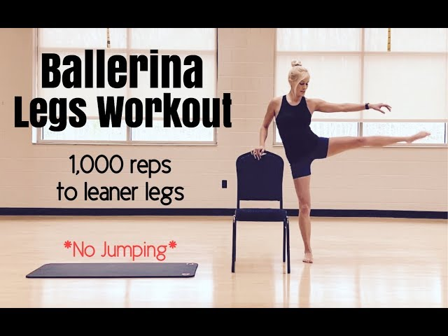 Ballerina Legs Fitness Workout | 1,000 Reps to Leaner Legs