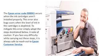 How to Fix (817) 587–2017 Epson Printer Error Code 000041