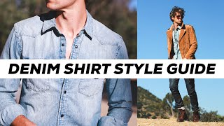 How To Style A Denim Shirt | Outfit Ideas | Parker York Smith