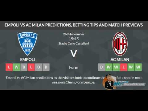 Empoli vs AC Milan PREDICTION (by 007Soccerpicks.com)
