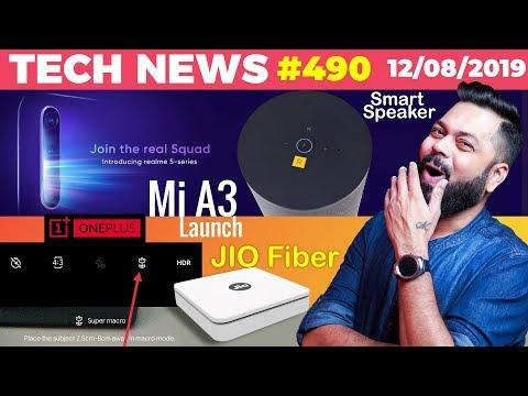 Realme 5 on 20th, Jio GigaFiber Details, Realme Smart Speakers, Mi A3 Launch, OP7 Pro Macro-TTN#490