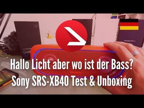 Hallo Licht aber wo ist der Bass? | Sony SRS-XB40 | Test & Unboxing