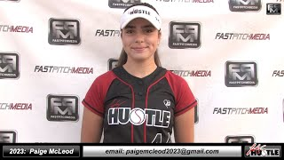 2023 Paige McLeod Pitcher and First Base Softball Skills Video - Lady Hustle