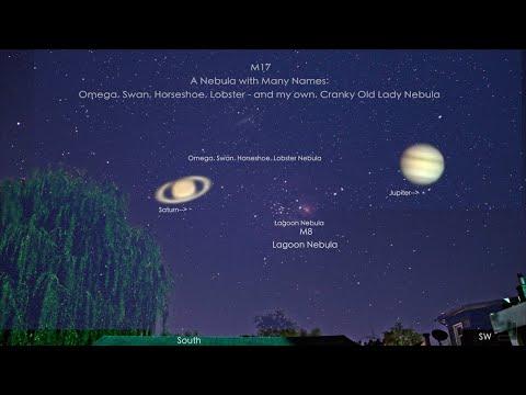 Omega Nebula Debut - Jupiter & Saturn Also
