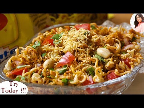 Best Maggi Bhel Recipe, Cooking Maggi In Different Style, Street Food Maggi, Crunch Maggi chaat