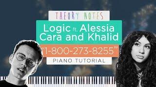 How to Play Logic ft. Alessia Cara & Khalid - 1-800-273-8255   Theory Notes Piano Tutorial