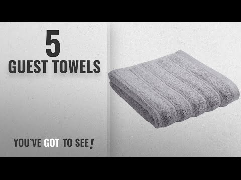 Top 10 Guest Towels [2018]: Bianca Ribbed Guest Towel Pair, Grey