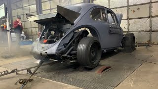 Turbo B18 VW Bug hits the Dyno at PFI SPEED! (We made a LOT of mistakes)