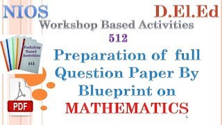 512 wba evs question paper with blue print most popular videos preparation of mathematics full question paper with blueprint in english wba 512 malvernweather Gallery