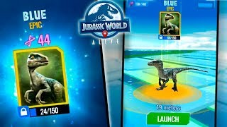 BLUE REVEALED IN JURASSIC WORLD: ALIVE! - (Gameplay) Ep. 5 HD