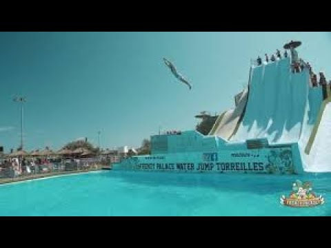Mind-blowing slide diving contest shows off impressive skills