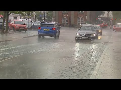Extreme weather 2018 - Heavy rain and lightning strikes (UK) - ITV News - 27th July 2018