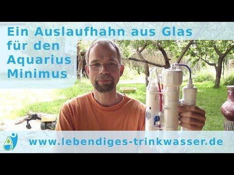 Ein Auslaufhahn aus Glas für den Aquarius Minimus
