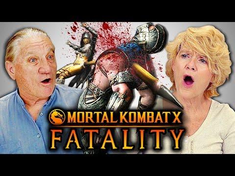 ELDERS REACT TO MORTAL KOMBAT FATALITIES (React-Mini)
