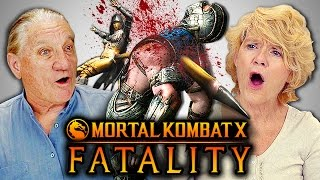 ELDERS REACT TO MORTAL KOMBAT FATALITIES (React-Mini)
