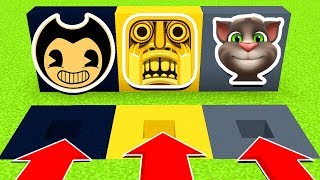 Minecraft: DO NOT CHOOSE THE WRONG HOLE (Talking TOM, TEMPLE RUN, BENDY) PS4/XboxOne/PE/MCPE)