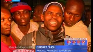 Uasin gishu governor Jackson Mandago's supporters clash with  rival candidate Zedekiah Kiprop's