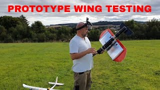 Reducing stall characteristics of the wing of a plane. RC PLANE PROTOTYPING. Flight test