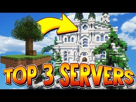 TOP 3 NO PREMIUM OP SKYBLOCK SERVERS 1 8/1 9/1 10/1 12/1 13