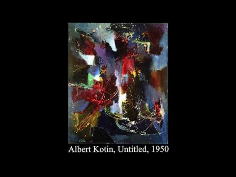 Albert Kotin Early New York School Abstract Expressionist