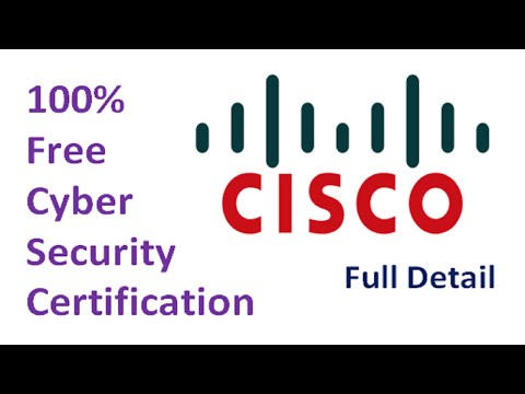 Cisco Certifications Courses | 100% Free Cisco Cyber Security ...