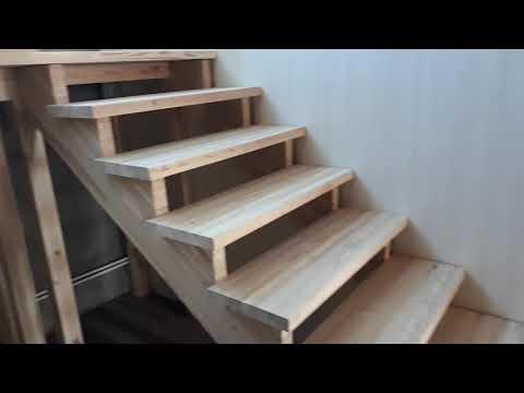 деревянная лестница своими руками из лиственницы