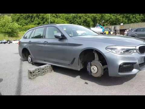 Stolen wheels on a BMW 530d xDrive, welcome to Sweden :(