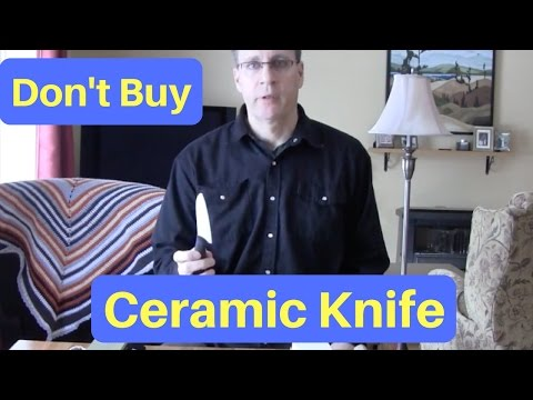 Sharpening a ceramic knife