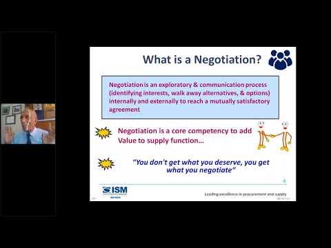 Webinar on Effective Negotiation - YouTube