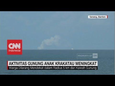 Aktivitas Gunung Anak Krakatau Meningkat