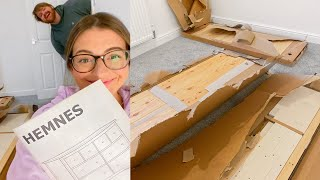 Starting THE NURSERY! Building IKEA HEMNES Drawers