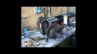 Двигатель briggs stratton   Чистим карбюратор,стартер; притираем клапана