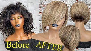 How To Lighten Dark Hair To Blonde On Machine Made Wig