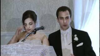 Bride & Grooms Speeches At Wedding Reception.  Jewish Wedding Videographer Photographer Toronto