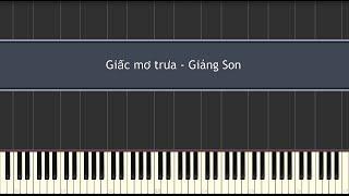 Giấc mơ trưa - (Thùy Chi) Giáng Son (Piano Tutorial)