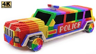 DIY - How To Make Amazing Police limousine car From magnetic Balls   ASMR Satisfying Video