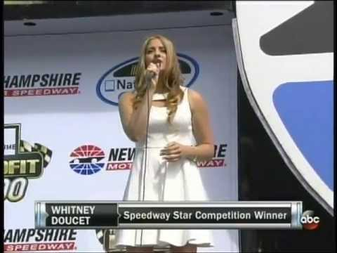 Whitney Doucet Singing the National Anthem at NHMS