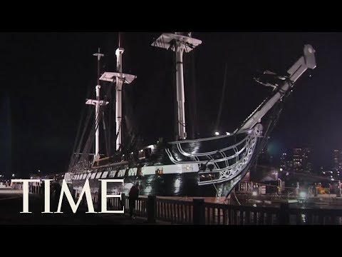Historic 220-Year-Old U.S. Navy Warship USS Constitution Is Officially Back In The Water | TIME