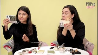 Cherry & Shraddha Take On 5 Minute Makeup Challenge | Quick Makeup | Tutorial - POPxo Beauty