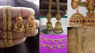 Gold Earrings And Matilu Collection In Telugu With Weight & Details || DailyVartha #mygoldjewellery