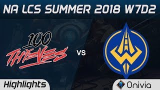 100 vs GGS Highlights NA LCS Summer 2018 W7D2 100 Thieves vs Golden Guardians by Onivia