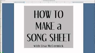Free Lesson for Guitar Players: Making Lyric Sheets