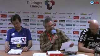 preview picture of video 'Pressekonferenz - ThSV Eisenach vs. TV Hüttenberg 37:30 (19:13)'