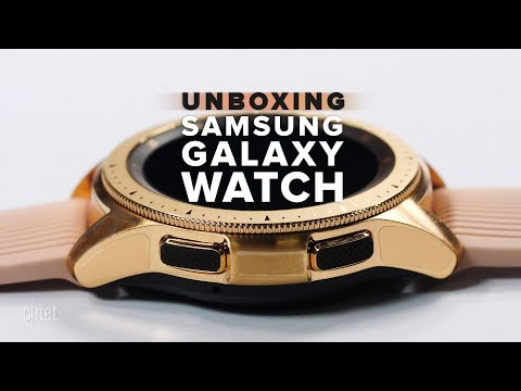 Samsung Galaxy Watch Rose Gold unboxing
