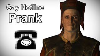 Cicero Calls the Gay Hotline - Skyrim Prank Call