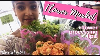 Grocery Store Flower Shopping Tips + How To Flower Process Flowers! @aleexischristine